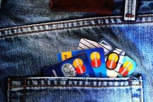 Credit cards out the back pocket