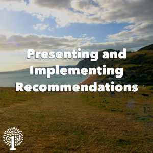 Presenting and implementing recommendations Dorset Beach